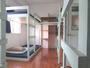 ドミトリーの一例ミントを基調にしたベッドでごゆっくり各部屋に窓があり、明るく広々!!