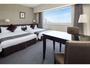 【ツインルーム】空間を贅沢に使った広めのお部屋はレジャーの拠点に