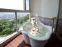 【温泉展望風呂付特別室】温泉から三河湾が一望できます。皆様だけのお時間をどうぞ。