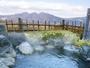 露天風呂(男性用)小さいけれど上州の山々が望める