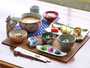 *【茶粥朝食一例】当館人気の朝食!お米から炊く茶粥はさらりとしてとってもヘルシー♪