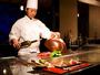 旅館に珍しい鉄板焼レストラン『青竹』。金目鯛や伊勢海老などを絶妙な焼加減で味わえます